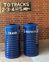 Cambridge Trash Receptacles w/ custom signage