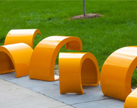 Golden Rod Art Installation/Seating