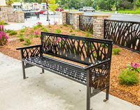 TallGrass bench and fence panels